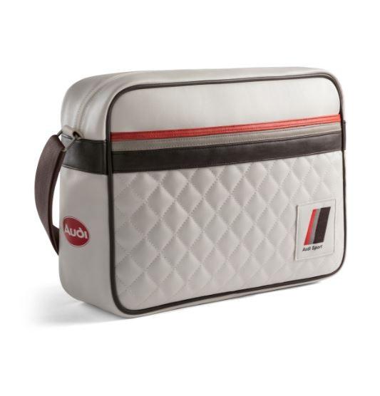 Audi Sport, heritage Messenger Bag, offwhite