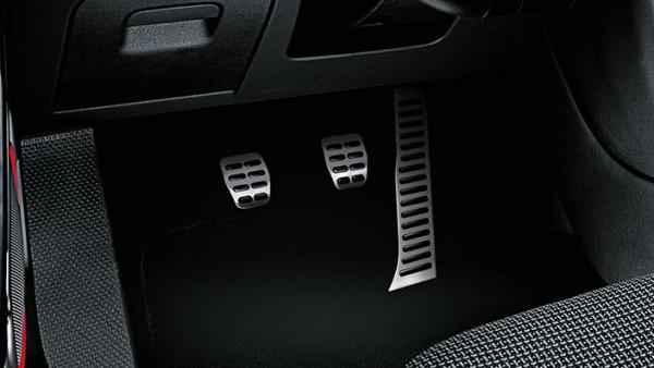 Pedalkappen aus Edelstahl für Fahrzeuge mit Schaltgetriebe