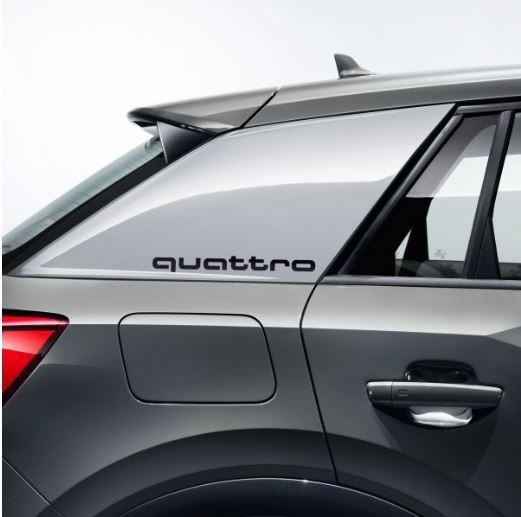 Dekorfolie quattro, brillantschwarz Audi Q2 für Seitenblade