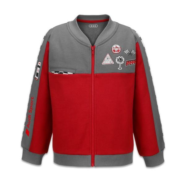Audi Sport Sweatjacke Racing, Baby, grau/rot, verschiedene Größen