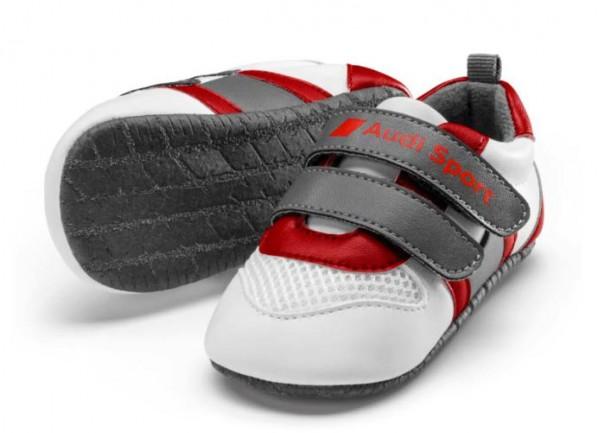 Audi Sport Baby Schühchen, Baby, weiß / grau / rot, Größe 17-18