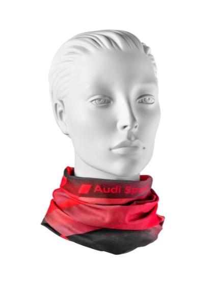Audi Sport Schlauchtuch, rot/ grau