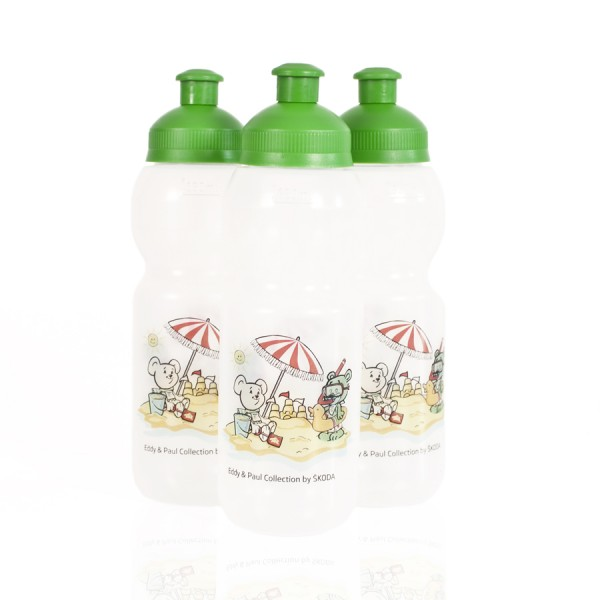 ŠKODA BULB Kunststoff-Trinkflasche Eddy & Paul