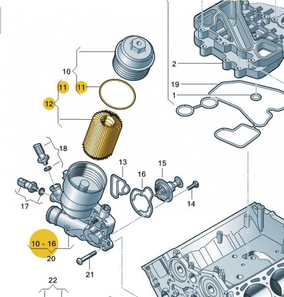 VW Audi Filtereinsatz mit Dichtring 059198405