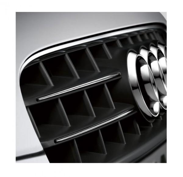 Zierleisten für Kühlergrill, Audi A5 8T, chromglanz