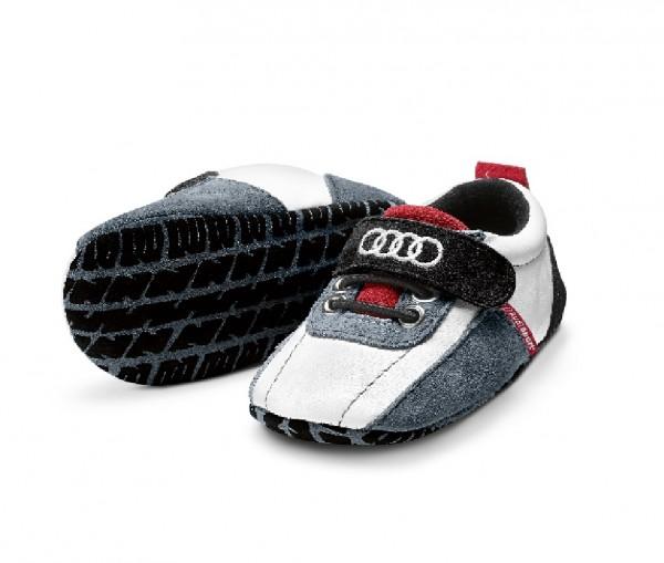 Audi Sport Schühchen, Baby, schwarz/weiß/rot, 17-18