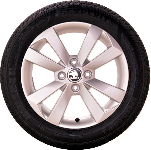ŠKODA Winterkomplettradsatz Citigo 185/55 R15 86H XL Semperit Speed-Grip3, Alufelge silber